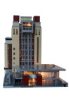 Lego BALTIC - West elevation, lit